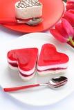Beau gâteau de rue Valentine Photo libre de droits