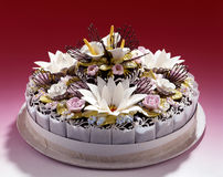 Beau gâteau romantique. photographie stock