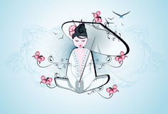 Beau geisha Image libre de droits