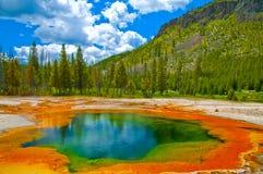 Beau geyser vert Photo libre de droits