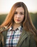 Beau Ginger Girl Outside adolescent Photo stock