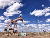 Beau gisement de pétrole Image libre de droits