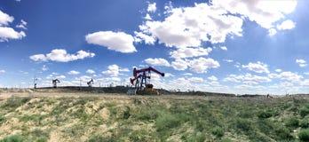 Beau gisement de pétrole Photographie stock libre de droits