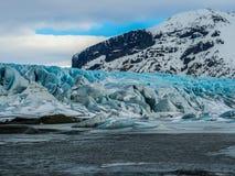 Beau glacier bleu en Islande Images stock