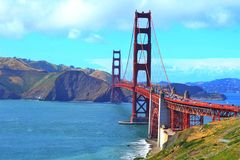 Beau golden gate bridge Photo libre de droits
