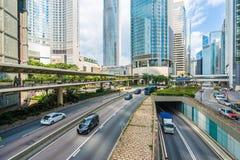 Beau gratte-ciel de bâtiment d'architecture dans la ville de Hong Kong photo stock
