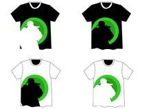 Beau gratte-cul h de T-shirt de vecteur Photographie stock libre de droits