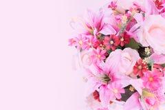 Beau groupe de fleur rose Photographie stock libre de droits