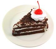 Beau gâteau de chocolat savoureux Photos libres de droits