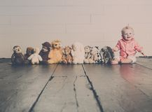 Beau with his Plush Toys royalty free stock images