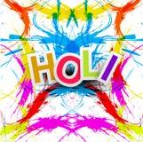 Beau holi indien coloré grunge de festival Photos libres de droits