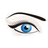 Beau œil bleu Photographie stock libre de droits