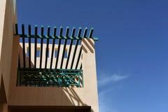Beau jardin à la station de vacances d'hôtel et bâtiment dans le style arabe traditionnel Architecture de station de vacances en  Image libre de droits