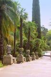 Beau jardin de style Antic de la Grèce Image libre de droits