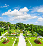 Beau jardin sur la Côte d'Azur Photos stock