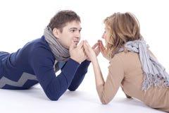 Beau jeu de couples Images libres de droits