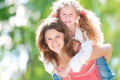 Beau jeu de mère et de descendant Image stock