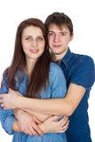 Beau jeune étreindre de sourire de couples Image stock