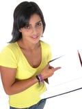 Beau jeune étudiant féminin Image libre de droits