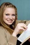 Beau jeune femme avec la bible Photos libres de droits