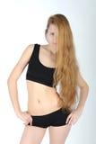 Beau jeune femme avec le long cheveu Image libre de droits