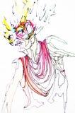 Beau jeune femme avec le masque de carnaval Images stock