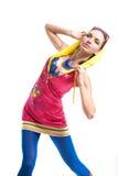 Beau jeune femme dans l'usure de couleur Images stock