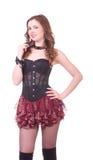 Beau jeune femme dans le corset Photographie stock libre de droits