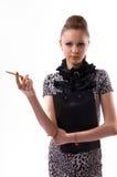 Beau jeune femme dans le studio Image libre de droits
