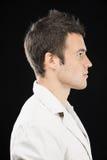 Beau jeune homme dans le profil Photographie stock libre de droits