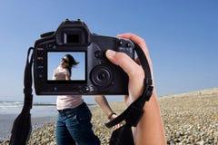 Beau jeune modèle en session de photographie Images stock