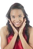 Beau jeune sourire de femme d'afro-américain photo libre de droits