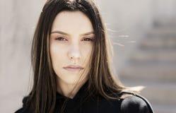 Beau jeune visage de womans Images stock