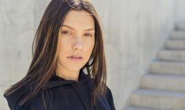 Beau jeune visage de womans Photos libres de droits