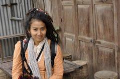 Beau joli cheveu Dreadlock Asie de femmes de type Images libres de droits