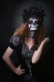 Beau jour créatif de peinture de visage du concept et du thème morts Image libre de droits