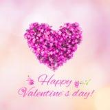 Beau jour de valentines heureux de carte de voeux photos stock