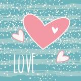 Beau jour de valentines heureux de carte de voeux Illustration Libre de Droits