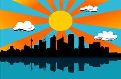 Beau jour de ville illustration libre de droits
