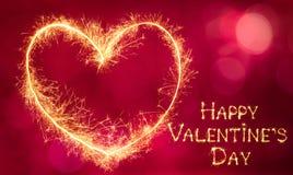 Beau jour heureux du ` s de Valentine de carte de voeux Photos libres de droits