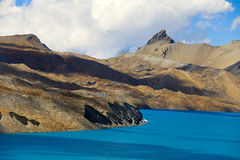 Beau lac bleu high altitude image stock