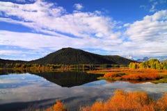 Beau lac bow de boeuf en dehors de parc national grand de Tetons photo libre de droits
