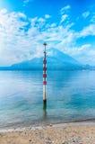 Beau lac Como, Italie Photos libres de droits