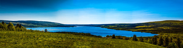 Beau lac de montagne Photos stock