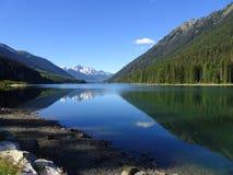 Beau lac Duffey dans le Canada images libres de droits