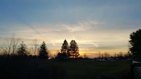 Beau lac Forest Scenery sky de nature image libre de droits