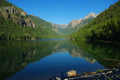 Beau lac McDonald, Montana Photo stock