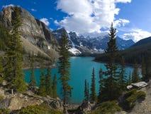 Beau lac moraine de Specticle Photo libre de droits
