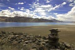 Beau lac Pangong, Ladakh, Inde Photos libres de droits