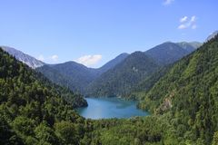 Beau lac Riza de panorama Images stock